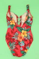 Loot Vintage Swimsuit Hawaiian Floral Swimsuit