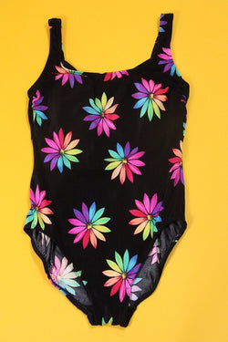 Loot Vintage Swimsuit Neon Printed Swimsuit