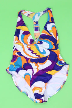 Loot Vintage Swimsuit Pyschedelic Swimsuit