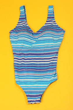 Loot Vintage Swimsuit Striped Swimsuit