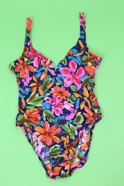 Loot Vintage Swimsuit Sweetheart Floral Swimsuit