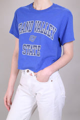 Loot Vintage T-Shirt 10 / Blue Vintage Cropped T-Shirt
