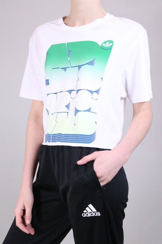 Loot Vintage T-Shirt 10 / White Vintage Reworked White Cropped T-shirt