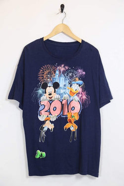 2000s Men's Disney T-Shirt - Blue L