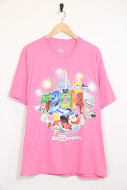 2000s Men's Disney T-Shirt - Pink XL
