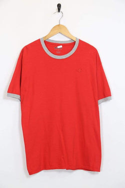2000s Men's Champion T-Shirt - Red XL