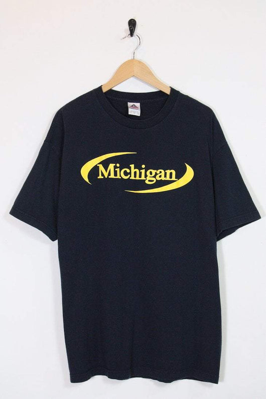 Loot Vintage T-Shirt Vintage Black Michigan Tee