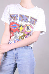 Loot Vintage T-Shirt Vintage Super Bowl Cropped T-Shirt
