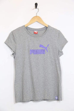 2000s Women's Puma T-Shirt - Grey M