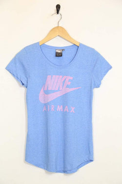 2000s Women's Nike Air Max T-Shirt - Blue XS