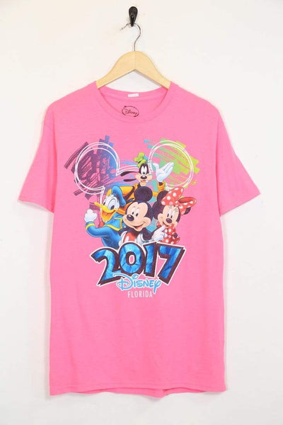 2000s Men's Disney T-Shirt - Pink M