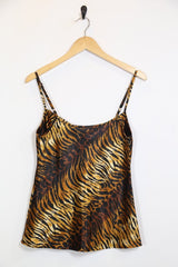 Loot Vintage Top M / Brown / Polyester *Women's Tiger Print Cami Top - Brown M