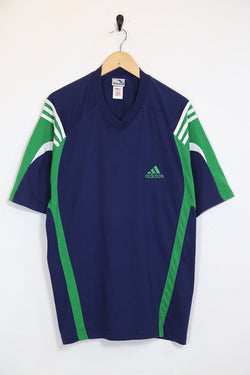 1990s Men's Adidas T-Shirt - Blue XL