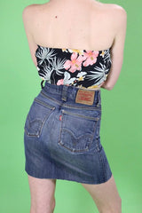 Loot Vintage Top Reworked Floral Bandeau