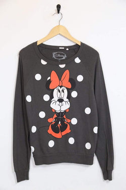 Women's Minnie Mouse Top - Grey M