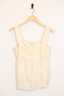 Loot Vintage Top Vintage Floral Silk Cami Top