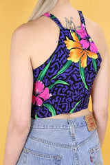 Loot Vintage Top Vintage Reworked 90s Floral Top