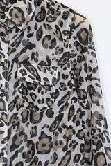 Loot Vintage Top *Women's Leopard Print Shirt