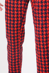 Loot Vintage Trousers 12 / red Vintage Houndstooth Red Trousers