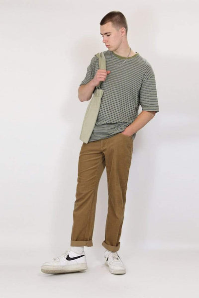 Loot Vintage Trousers M / brown / cotton Men's Corduroy Trousers - Brown M
