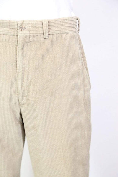 Loot Vintage Trousers Men's Corduroy Trousers - Cream L