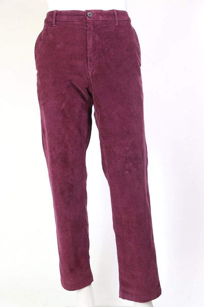 Loot Vintage Trousers Men's Corduroy Trousers - Red  L