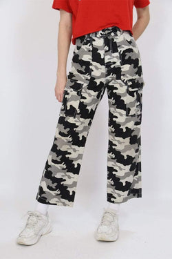 Loot Vintage Trousers S / black / cotton Women's Camouflage Military Trousers - Black S