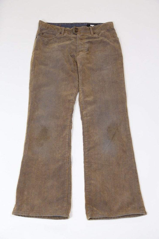 Loot Vintage Trousers S / brown / cotton Men's Corduroy Trousers - Brown S