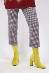 Loot Vintage Trousers S / Yellow / Cotton *Women's Patterned Trousers - Yellow L