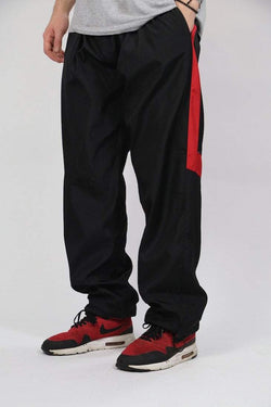 Loot Vintage Trousers Vintage Black Printed Track Pants