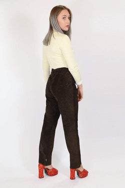 Loot Vintage Trousers Vintage High Waisted Suede Trousers