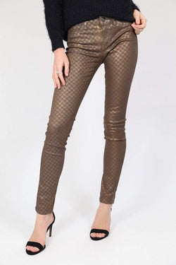 Loot Vintage Trousers Vintage Metallic Skinny Trousers