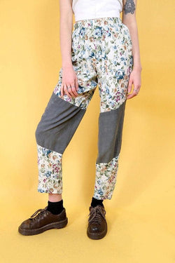 Loot Vintage Trousers Vintage Reworked Green Garden Trousers