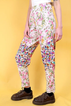 Reworked Hippy Trousers - Multi 28W - Loot Vintage