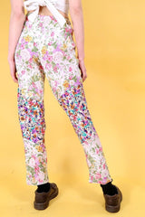 Loot Vintage Trousers Vintage Reworked Spring Flower Trousers