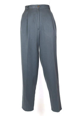 Women's High Waisted Trousers - Grey M