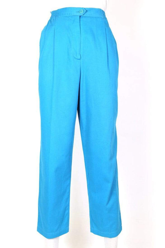 Women's High Rise Tapered Trousers - Blue S