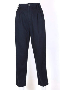 Women's High Rise Pleated Trousers - Blue XS