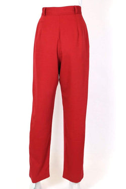 Women's High Rise Trousers - Red M