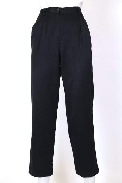 Women's High Rise Tapered Trousers - Black XS