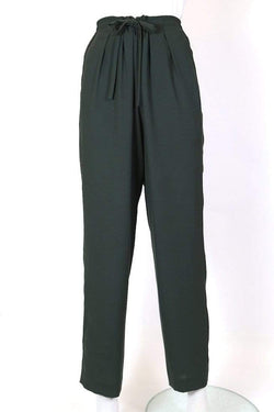 Women's High Rise Trousers - Green M