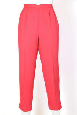 Loot Vintage Trousers Women's High Waisted Crop Trousers - Pink M
