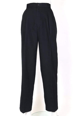 Loot Vintage Trousers Women's High Waisted Pleated Trousers - Black S