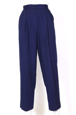 Loot Vintage Trousers Women's High Waisted Trousers - Blue S