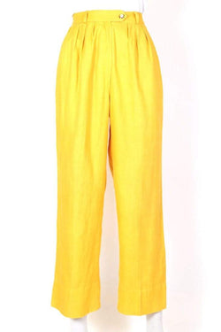 Loot Vintage Trousers Women's Super High Rise Trousers - Yellow S