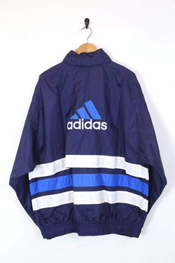 Loot Vintage UPLOAD Men's Adidas Jacket - Blue XXL