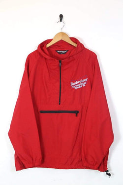 Loot Vintage UPLOAD Men's Budweiser Anorak Jacket - Red XL