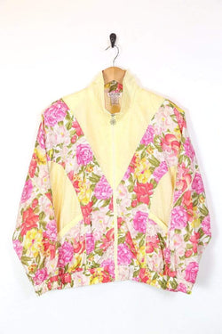 Loot Vintage UPLOAD Women's Floral Windbreaker Jacket - Multi M