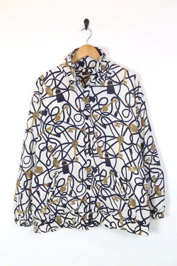 Loot Vintage UPLOAD Women's Patterned Windbreaker Jacket - Multi XL