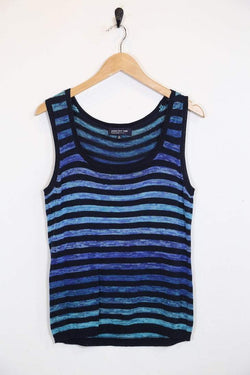 Loot Vintage Vest Vintage Knitted Striped Vest